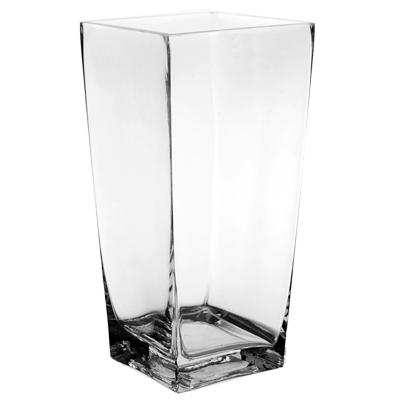 16 Square Glass Vase Art Pancake Party Wedding Rental